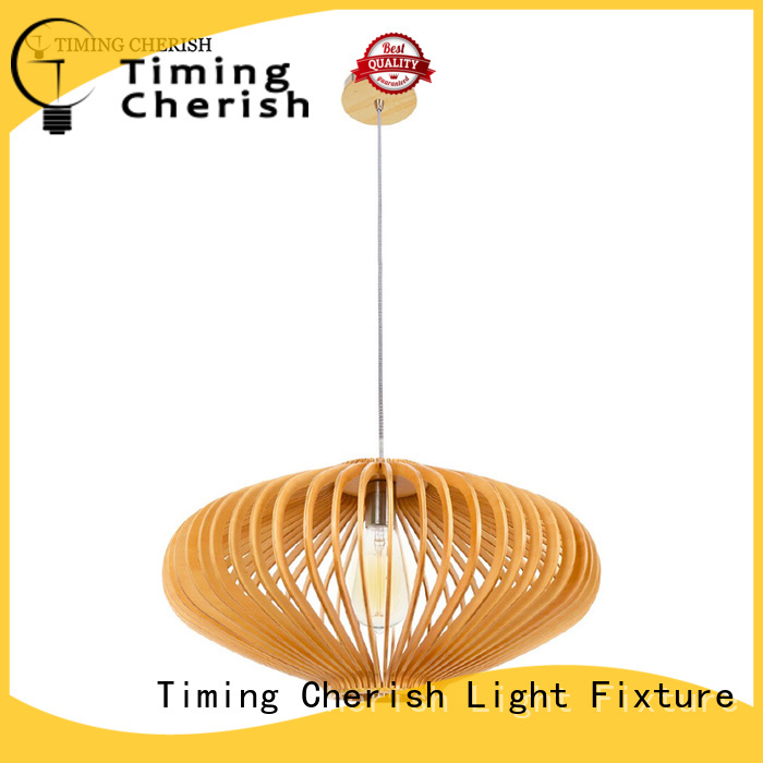 Timing Cherish boho timber pendant light supply for hotel