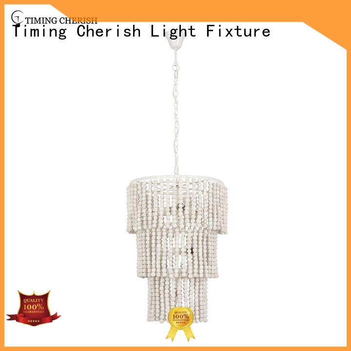 Timing Cherish washnatural beaded pendant light company for hotel