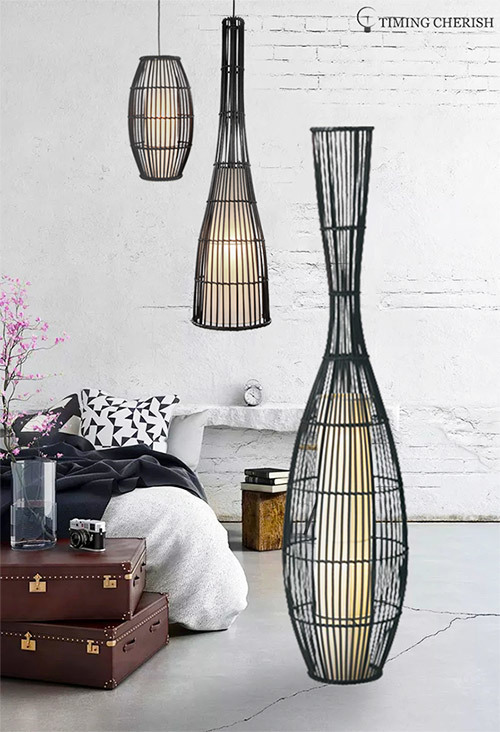 Timing Cherish tan metal floor lamp for sale for home