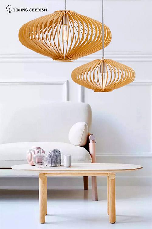baikal timber pendant light woven supply for shop-1