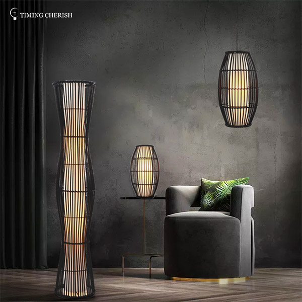 natural touch table lamp woven for business for kitchen-1