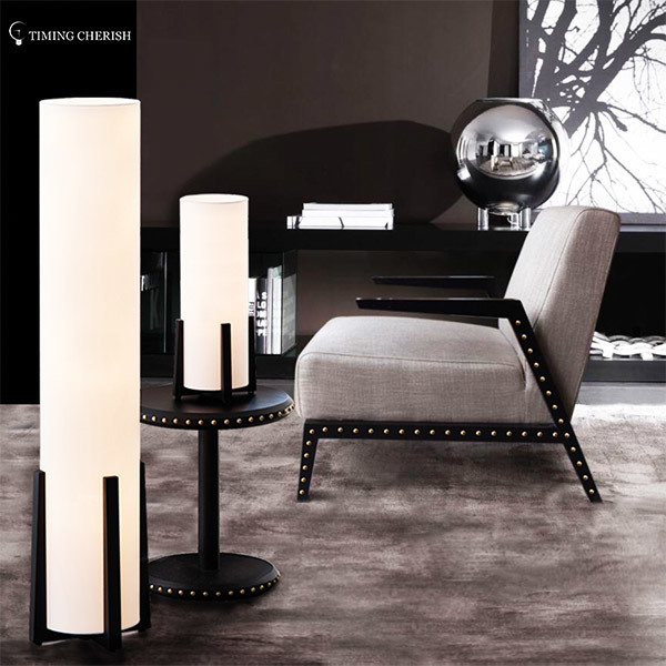 black french column glass table lamp customized for kitchen Timing Cherish