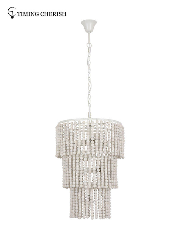 exclusive wood bead chandelier white suppliers for hotel-1