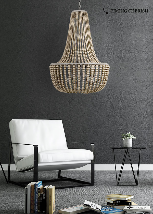 Timing Cherish draped hanging chandelier suppliers for living room-1