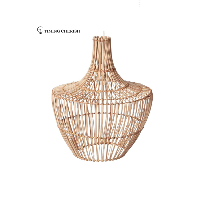 Ossio Wicker Pendant Light in Natural or Black or Walnut Finish