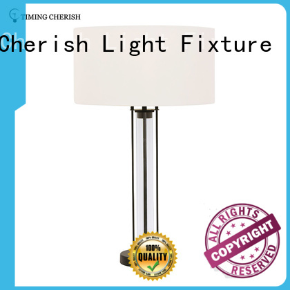 1 Light H635MM Glass Table Lamp in Black / Chrome with White Shade