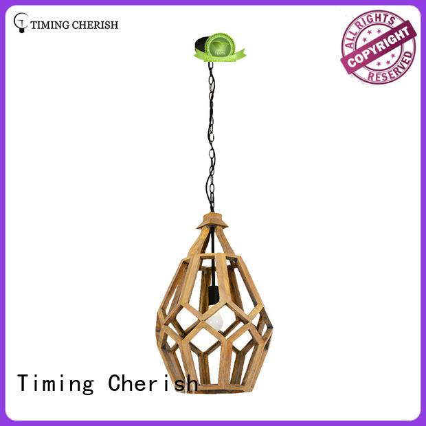 Timing Cherish Brand squat rugby macrame hanging light timber factory