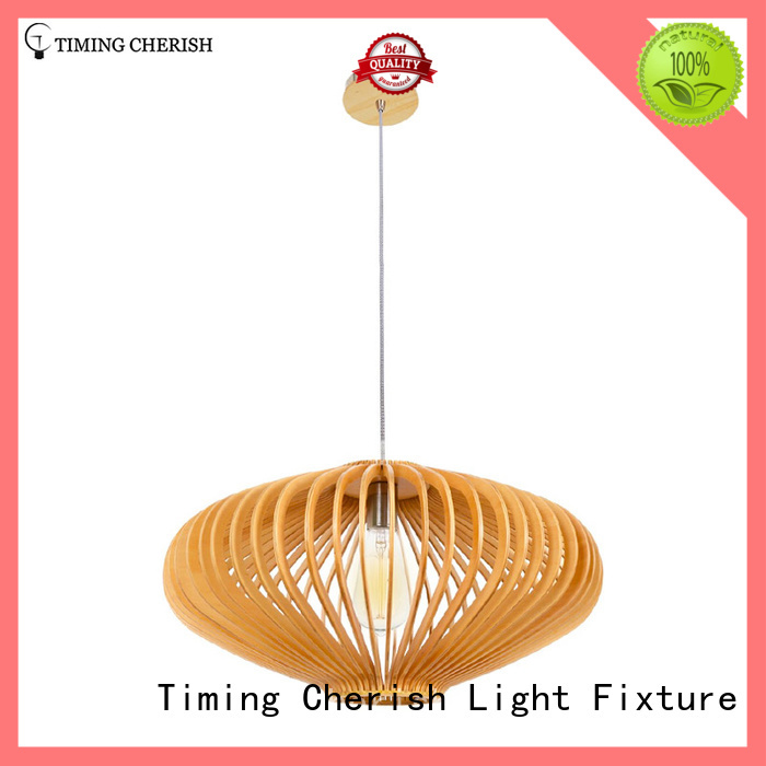 Timing Cherish cord wood pendant light manufacturer for hotel