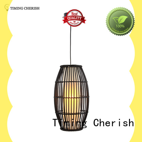 Himalayan 1 Light H440MM Rugby Hand Woven Rattan Pendant Lamp in Black