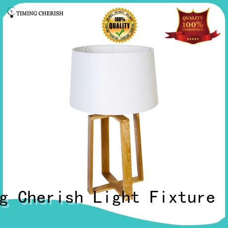 linen modern baikal column glass table lamp Timing Cherish Brand company