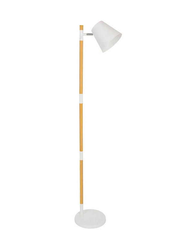 stylish wooden floor lamp whiteblack supply for living room-3