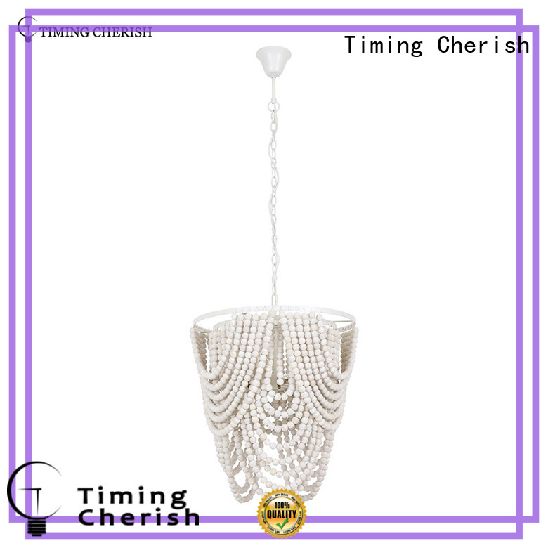 Timing Cherish black wood bead chandelier manufacturer for home