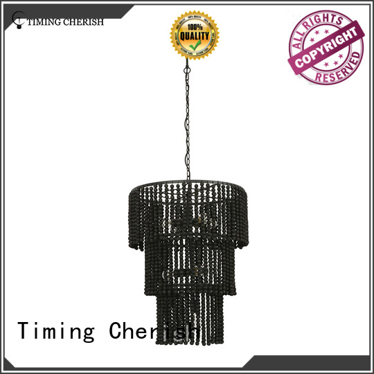 Timing Cherish handmade wood bead chandelier company for hotel