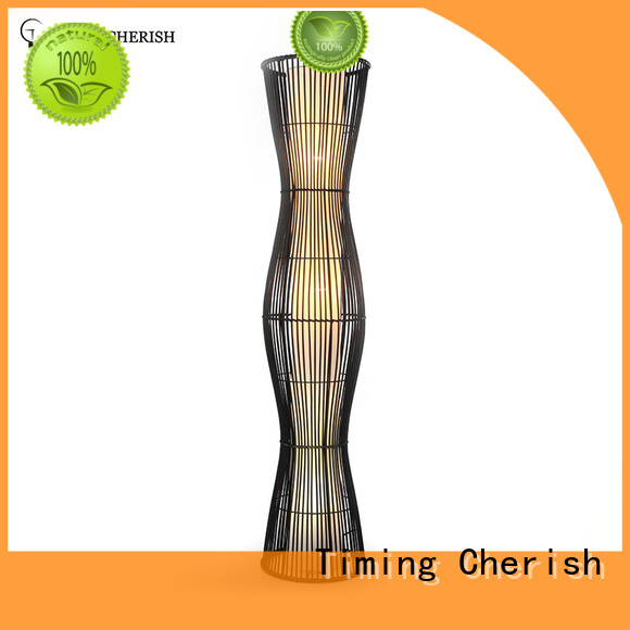 Timing Cherish rattan floor standing lamps for business for hotel