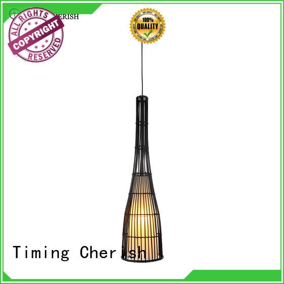 Timing Cherish black timber pendant light for sale for hotel