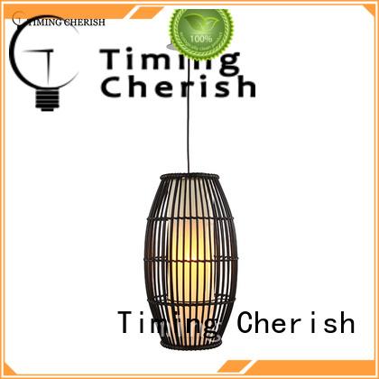 Timing Cherish woven wood pendant light supply for living room