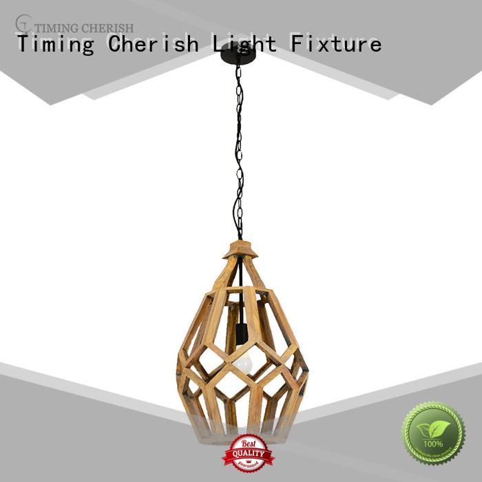 fringed wood pendant light fixture supply for bar