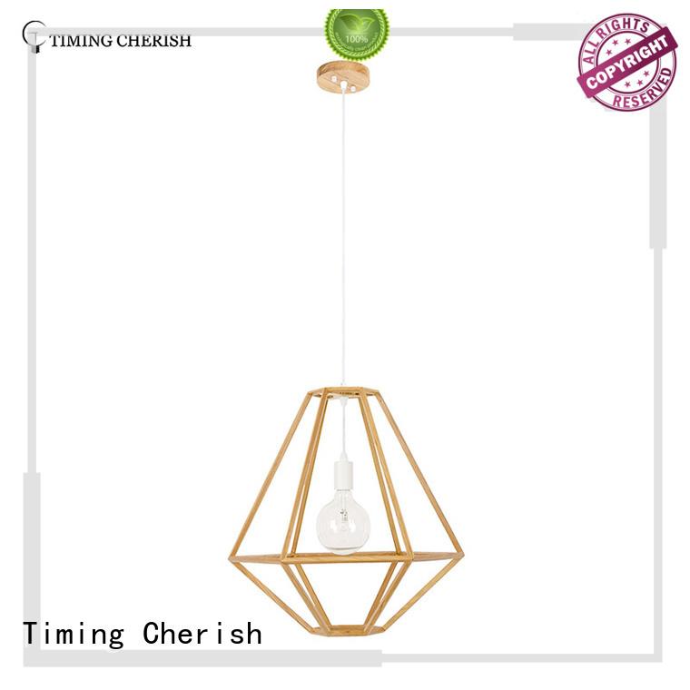 Timing Cherish handmade wood pendant light for business for hotel