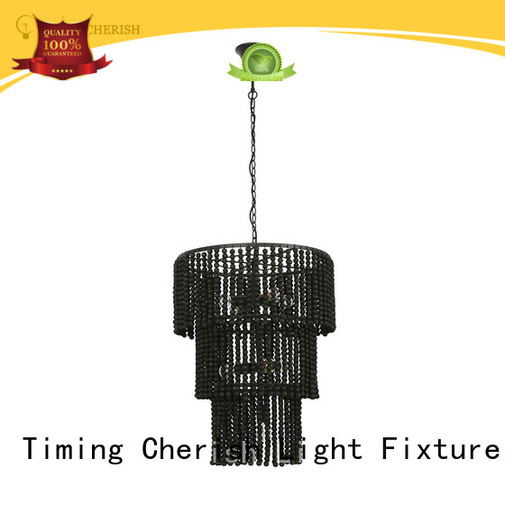 draped wood bead chandelier baikal manufacturers for hotel