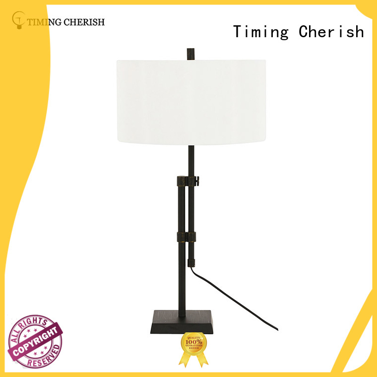 Wholesale lamp white column glass table lamp Timing Cherish Brand