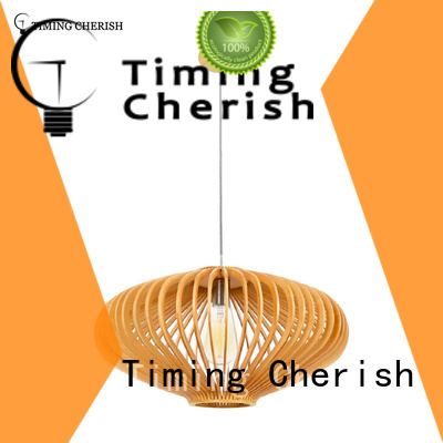 crafted timber pendant light frisbee for business for home