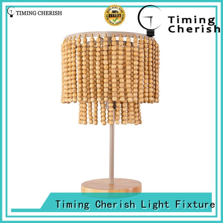 Timing Cherish classic french column glass table lamp supplier for living room