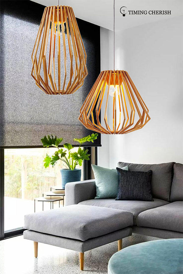 Timing Cherish woven hanging pendant lights supply for hotel-1