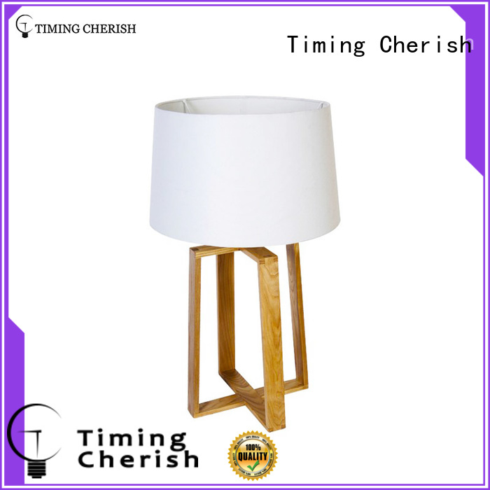 Bracknell 1 Light H640MM Classic Wood Table Lamp in Natural with White Linen Shade