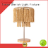 Timing Cherish rattan wood table lamp suppliers for hotel