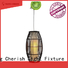 Timing Cherish macrame wood pendant light for business for living room