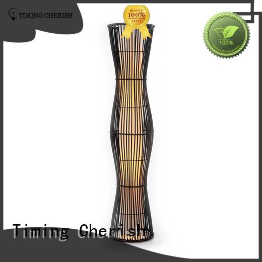 Timing Cherish wicker wooden floor lamp manufacturers for hotel