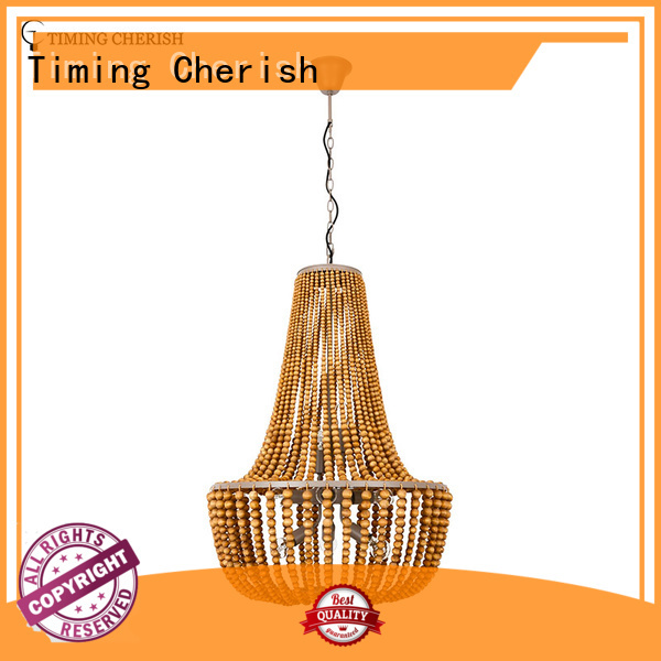 large wood bead chandelier white factory for bar