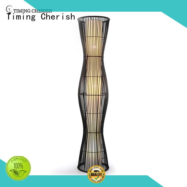 modern rattan floor lamp rhine supply for hotel