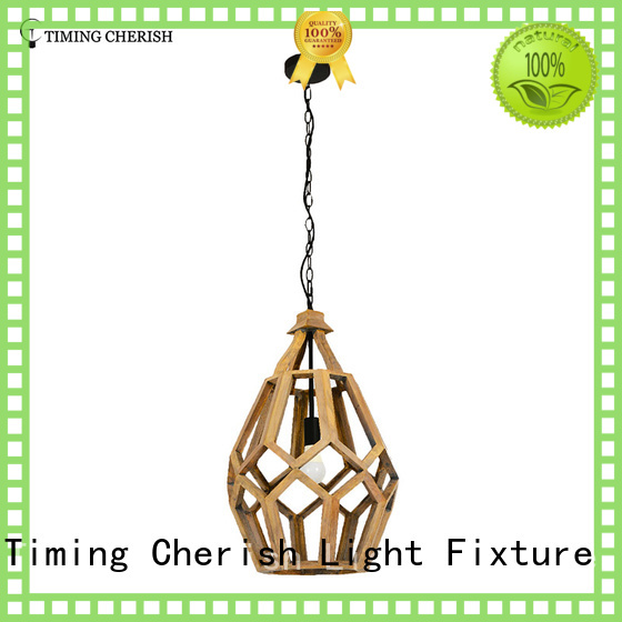 Fenske 1 Light H660MM Polytope Light Grey Wood Hanging Pendant Light