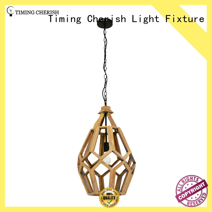 Timing Cherish french wood pendant light manufacturers for bar