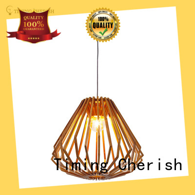 weaving cotton timber pendant light woven supply for living room