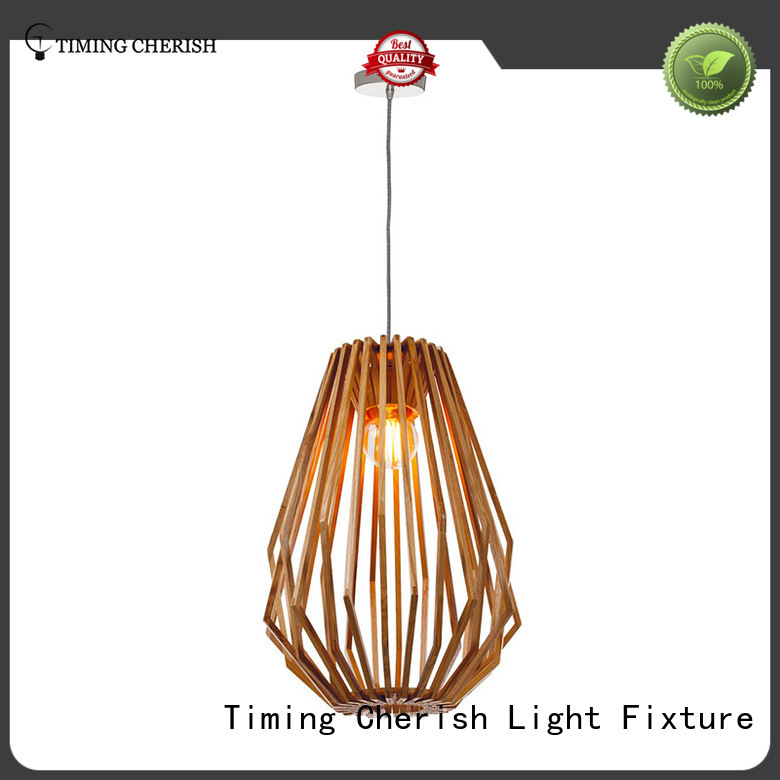 Timing Cherish fixture timber pendant light factory for hotel
