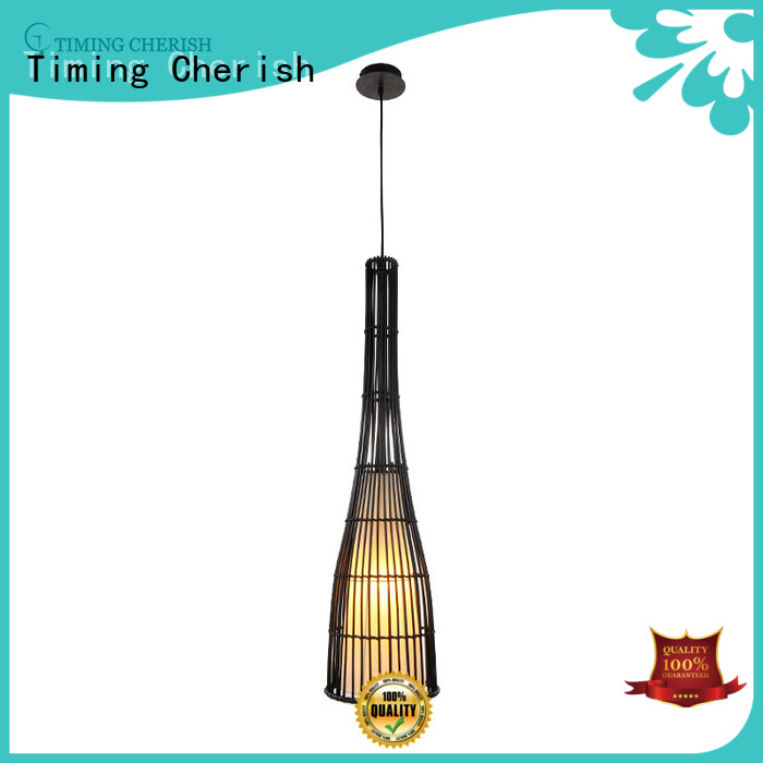 Timing Cherish tall wood pendant light suppliers for shop