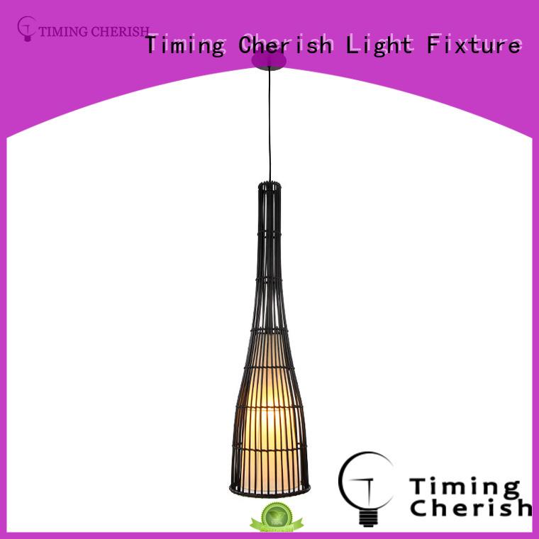 rattan pendant lamp black for hotel Timing Cherish
