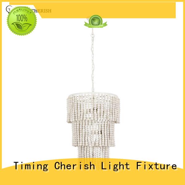 Timing Cherish natural beaded pendant light supplier for bar