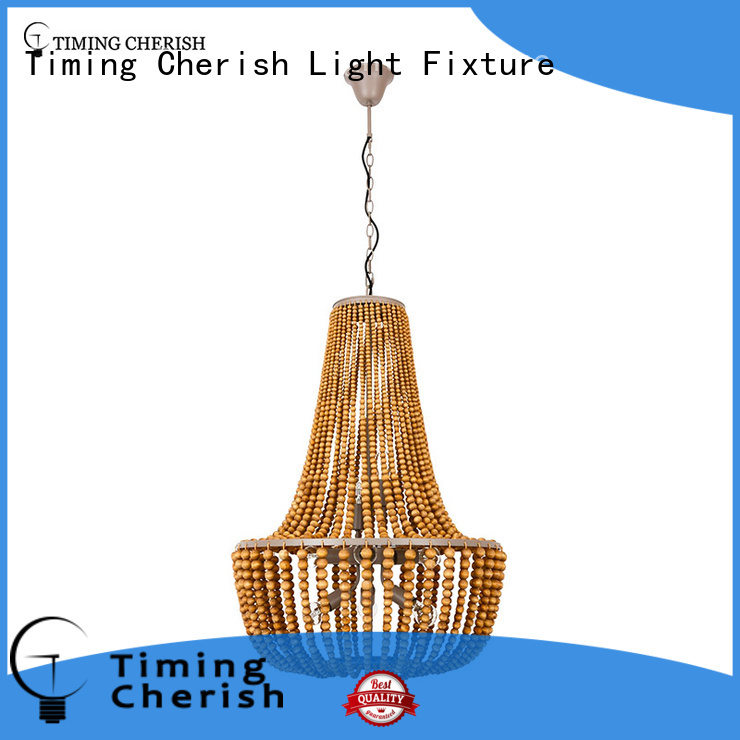 octave wood bead pendant light customized for shop Timing Cherish