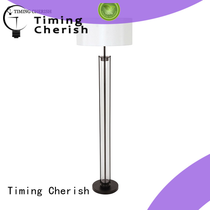 Timing Cherish wicker metal floor lamp supply for hotel