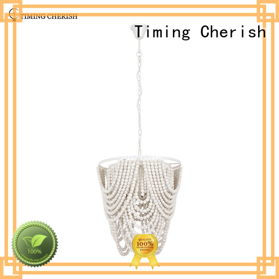 Timing Cherish macrame fringe chandelier customized for bar