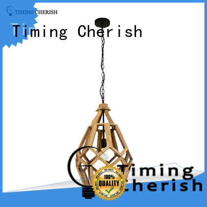 Timing Cherish rattan wood pendant light customized for bar