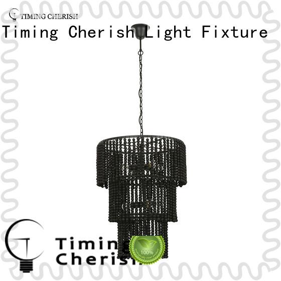Timing Cherish oval wood bead chandelier company for bar