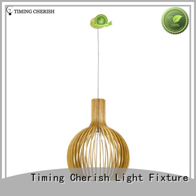 Timing Cherish frisbee timber pendant light supply for bar