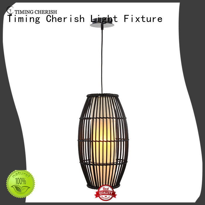 wood pendant light fixtures woven factory for home