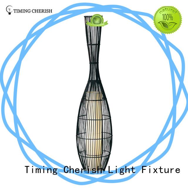 Timing Cherish wood wooden floor lamp company for bar