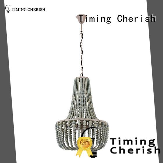 white white wood bead chandelier supplier for living room Timing Cherish