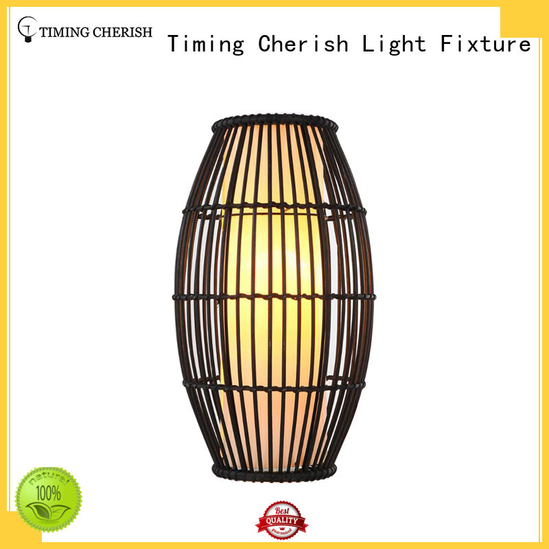 wooden shade timber Timing Cherish Brand column glass table lamp supplier